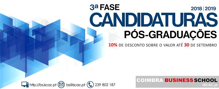 3ªFASE | Candidaturas Pós-graduações 2018/19