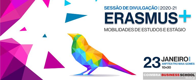 Sessão de Divulgação Erasmus + | 2020-21