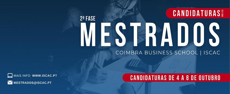2ª Fase Candidaturas | MESTRADOS 2021/22