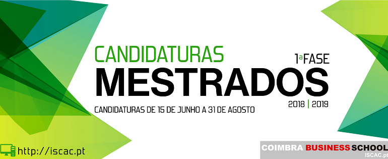 1ª FASE | Candidaturas - MESTRADOS 2018/19