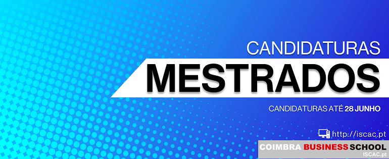CANDIDATURAS ABERTAS | Mestrados 2019/2020