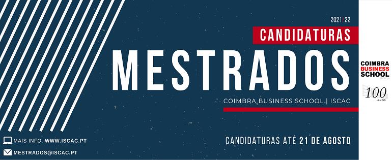 1ª Fase Candidaturas   MESTRADOS 2021/22